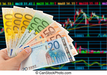 Euro notes with sotck or exchange trade data  analysis