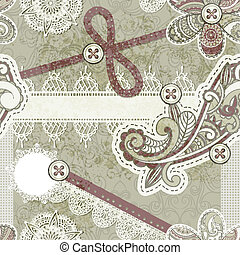 vector seamless vintage scrap template design