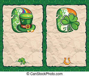 St Patricks Day paper backgrounds series 1