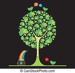 St Patricks Day tree - Vector illustration of St...