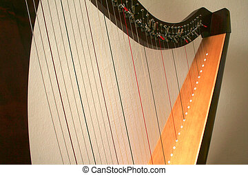 closeup, harpa