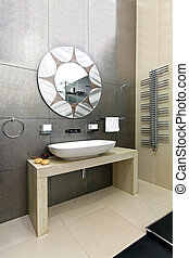 Sparkling bathroom - Modern bathroom with sparkling tiles...