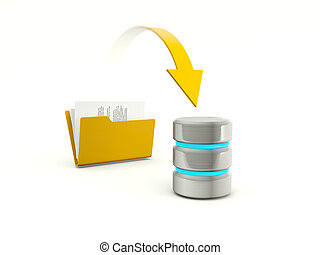 Copying files from folder to database