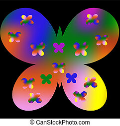 Abstract butterfly colorful pattern