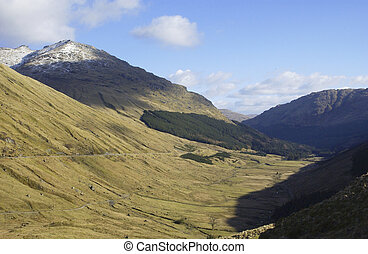 glen in highlands known as the Rest and be Thankful - view...