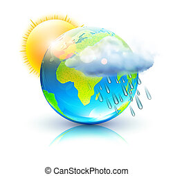 weather icon - illustration of cool single weather icon...