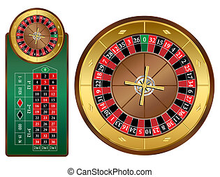 Roulette Wheel - European style roulette wheel and table...