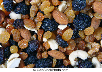 Musli - Mixed nuts, raisins and dried fruit