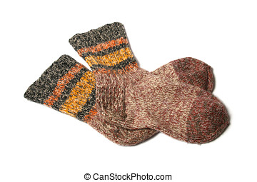 knitted yarn socks