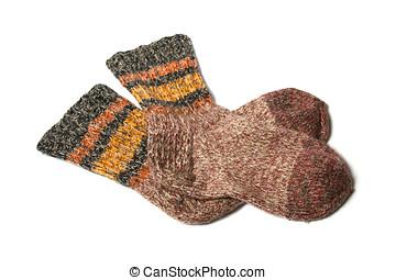 knitted yarn socks