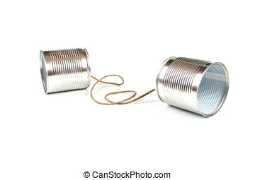Communication concept: tin can phone