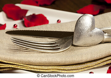 Place setting for Valentine