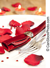 place setting for valentines day - a place setting for...
