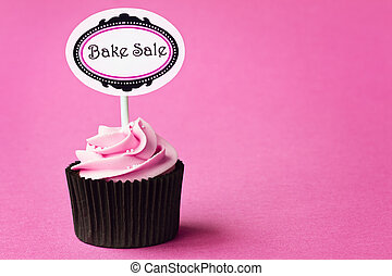 Bake sale cupcake with space for copy