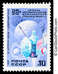 Postage stamp - USSR - CIRCA 1987: A stamp printed in the...