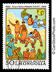 Postage Stamp - MONGOLIA - CIRCA 1981: A stamp printed in...