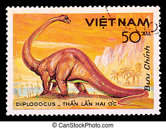 Postage Stamp - CUBA - Vietnam 1985: A stamp printed in...