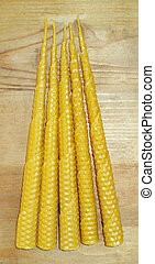 Beeswax candles - hand rolled natural beeswax candles taper