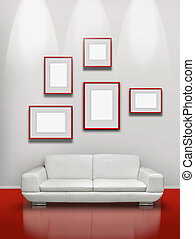 Red floor white gallery