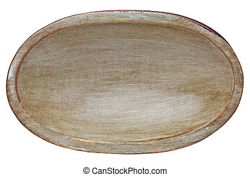 rustic wood dough bowl - oval wood trencher dough bowl with...