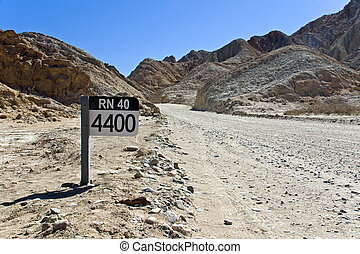 Street sign Ruta 40 in Argentina - A street sign of the...