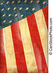 USA flag - Old grunge flag of usa background vector