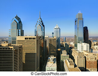 Philadelphia - Skyline of downtown Philadelphia,...
