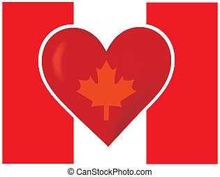 Heart Canadian Flag