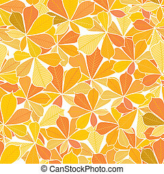 seamless autumn leaves pattern - seamless pattern from...