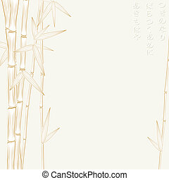 autumn bamboo frame - autumn bamboo silhouette with with...