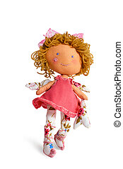Walking girl - Merry curly red-haired doll dress wings toy