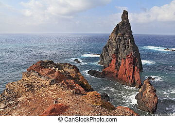 The eastern tip of the island of Madeira