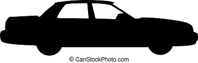 Car silhouette isolated on white