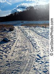 rural winter road