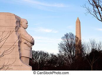 martin, Luther, rey, monumento, CC