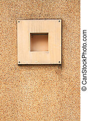 Square decor cell block on sand wall