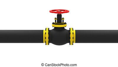 Valve for pumping oil on a white background