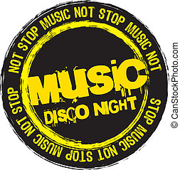 not stop music - not stop music stamp isolated over white...