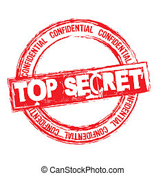 top secret stamp - red top secret stamp isolated over white...