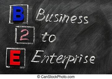Acronym of B2E - Business to enterprise