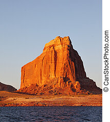Magnificent red sandstone cliffs