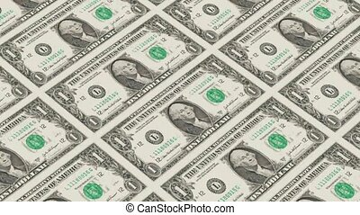 1 dollar bills,Printing Money Animation