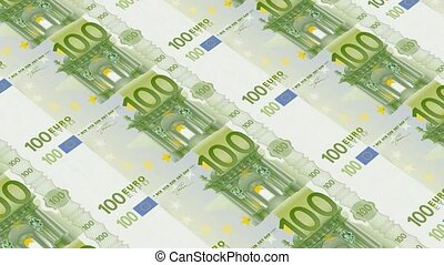 100 euro bills,Printing Money Animation
