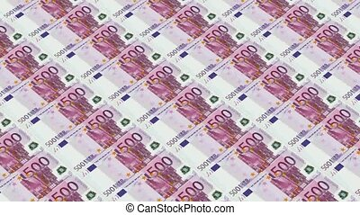 500 euro bills,Printing Money Animation