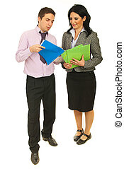 Full length of business people - Full length of two business...