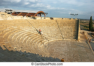 Ancient amphitheater in Kourion, Cyprus