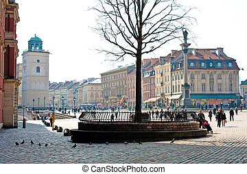 Warsaw, Poland. Old Town. UNESCO World Heritage Site
