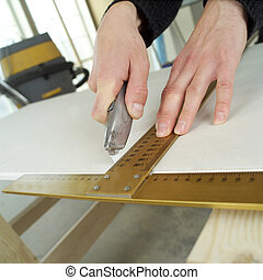 Carpenting - Close up of a carpenters work