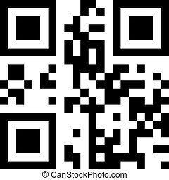 "QR-code - The code is encrypted word ""QR-code"". EPS 8 file."