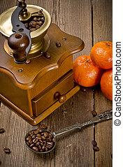Rustic coffee grinder